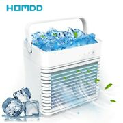 Portable Air Conditioner Fan Humidifier Ice Cube Water Spray Mini Air Cooler