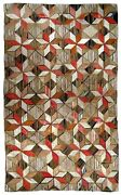 Hand Made Antique American Hooked Rug 4.8and039 X 7.7and039 146cmx234cm 1900s - 1b654