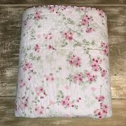 Simply Shabby Chic Twin Quilt Set Cherry Blossom Floral Cottage Cotton