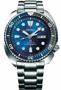 New Seiko Automatic Prospex Blue Wave Turtle Divers 200m Menand039s Watch Srpd21