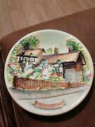 Chalkware Wall Plate Plaque Anne Hathaways Cottage