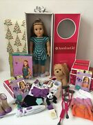 American Girl Doll Mckenna And Accessories Lot/set Euc