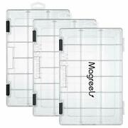 Magreel Fishing Tackle Boxes Transparent Fish Tackle Storage With Adjustable ...
