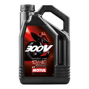 Motul 300v Factory Line 10w40 Motorcycle Engine Oil 10w-40 4 Litres 4l Or 1l