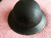 British Ww2 Brodie Arp Helmet No Liner Or Chin Strap Early 1938 Dated