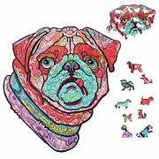 Aagood Wooden Jigsaw Puzzles 200 Pieces Animal Shaped Wooden Puzzles Cute Dog...