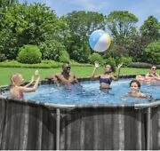 Bestway Power Steel 22andrsquox12andrsquox48andrsquoandrsquo Above Ground Oval Pool Set W/pump Complete Set