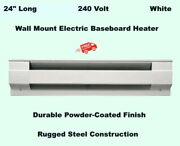 Wall Mount Electric Baseboard Heater 24 White Room Radiant Heat 208v To 240v