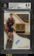 2019 Immaculate Championship Tags Luka Samanic Rookie Rc Patch Auto /5 Bgs 8.5