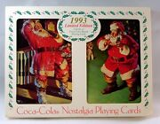 1993 Limited Edition Coca Cola Santa Nostalgic Playing Cards In Collectible Tin