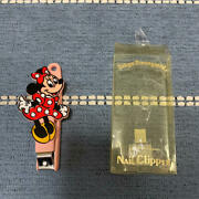 Used Unused Minnie Nail Clippers Tokyo Disneyland With Broken Case From Japan