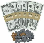 Click N' Play Pretend Money For Kids Realistic Bills And Coins Counting...