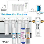 4-stage 10 Whole House System Carbon,sediment,update Spin Down Water Pre Filter