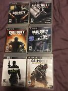 Call Of Duty Ps3 Playstation 3 Game Lot Black Ops 123 Ghosts Modern Warfare