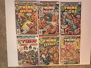 1976 Marvel Two In One Presents The Thing 16, 18-22