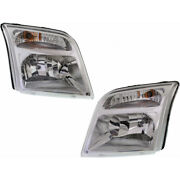 For Ford Transit Connect Headlight 2010-2013 Rh And Lh Pair/set Halogen Fo2502296