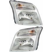 For Ford Transit Connect Headlight 2010-2013 Rh And Lh Pair/set Halogen Capa