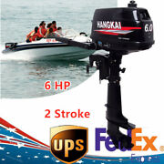 2stroke 6hp Outboard Motor Fishing Boat Engine Water Cooling System Cdi Motor Us