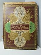 Late 1800and039s Victorian Trade Card And Scraps And Scrapbook Album