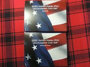 2020 Pandd Us Mint Uncirculated Coin Set In Stock 20rj Sealed Box Never Opened
