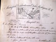 1871 Mansfield Coldwater And Lake Michigan Rr - Mansfield Ohio - Rare Letter Head