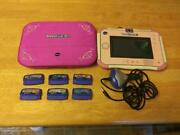 Vtech Innotab 3s Tablet 1588, With 6 Games And Case,stylus,charger Tested