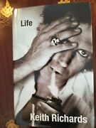 Rolling Stones Keith Richards Signed Book Life1st Ed Psa Certified Aj07191