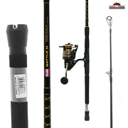 7and039 Penn Battle Heavy Fast Spinning Reel And Fishing Rod Combo New
