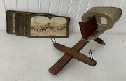 Vintage Wood Wooden Stereo Viewer/view Master/stereoscope Underwood Cards