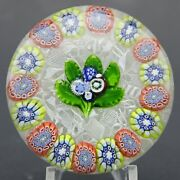Rare Antique St. Louis Nosegay And Millefiori Complex Canes Art Glass Paperweight