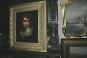 Fine Antique Large Portrait Of Young Lad Restored And Cleaned