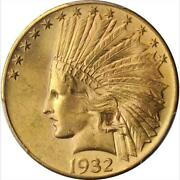 1932 10 Indian Eagle Ms64+ Pcgs