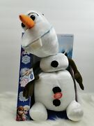 Disney Frozen Pull Apart And Talking Olaf Soft Plush Toy Talkinand039 Snow Man New Rare