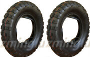 Two 3.50 - 8 Tires And Inner Tubes For Kawasaki Kv75 Front Or Rear 3.50x8