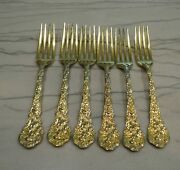 Sterling Silver Gorham Gold Plated Versailles Set Of 6 Place Settings 24 Each