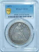 1872 P Pcgs Vf35 Liberty Seated Silver Dollar