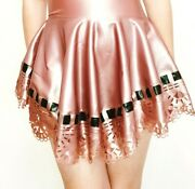 🌸 A Little Latex 🌸 Rubber Clothing - Rose Pink Lace Skirt