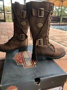 Women Harley Davidson Brown Boots Size 7 And A Half Belhaven Aged Bark Color