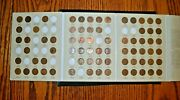1909-1940 Lincoln Wheat Cent Collectionnearly Full W/ 73 Of 90 Coins+new Album