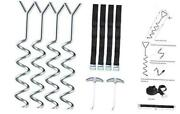 Heavy Duty Galvanized Trampoline Anchor Tie Down Kit With Spring Pull Tool,
