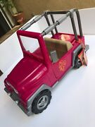 Our Generation Doll Og Pink Jeep Vehicle 24 Long Fits 18 American Girl Dolls