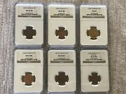 6 Total Certified Wwii German Coins