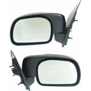 For Ford F-550 Super Duty Mirror 1999-2007 Lh And Rh Pair Manual Folding Fo1320209