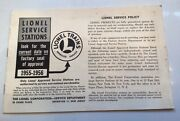 Lionel Service Stations Booklet From 1955