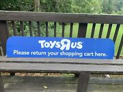 Vintage Toys R Us Two Sided Andldquoplease Return Your Shopping Cart Hereandrdquo Sign Rare