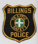 Vintage Billings Police Motors Traffic State Montana Mt Cheesecloth Patch