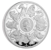 In Stock - The Queenand039s Beasts 2021 Uk Two-ounce Silver Proof Coin W/ Box And Coa