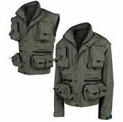New Ron Thompson Ontario Fly Course Specimen Fishing Jacket/vest Rrp Andpound64.99