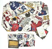 Mlb Cooperstown Baseball 4 Placemats And 4 Napkins