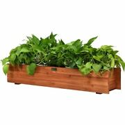 Modern And Durable 3' Wooden Decorative Planter Box For Garden Yard And Window